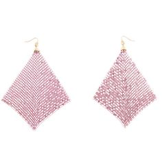 Shimmer Away Square Chainmail Earrings ❤ liked on Polyvore featuring jewelry, earrings, earring jewelry, chainmail jewelry, square earrings, chain mail jewelry and chainmail earrings