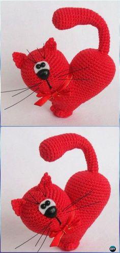 Crochet Amigurumi Valentine's Day Cat Free Pattern - Crochet Amigurumi Cat Free Patterns