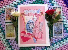 Fae Wrae Kawaii Spooky Collage Art Illustration by missmansionsart #tarot #collage #art #artwork #illustration #pastel #femineart #spookyart #cute #spooky #kawaii #fairies #fairie #pink #missmansions