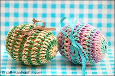 Crochet Decorated Easter Eggs