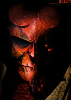 Hellboy Head IV by uwedewitt.deviantart.com on @deviantART