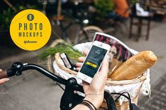 iphone 5s & bike - delivery - Show your app or responsive website in the real environment