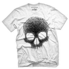 Doodle Skull Vintage Men's T Shirt