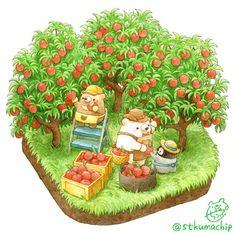 Just a small garden ghost Kawaii Drawings, Cute Drawings, Kawaii Illustration, Bear Art, Kawaii Art, Cute Bears, Art Plastique, Animal Drawings, Cute Cartoon