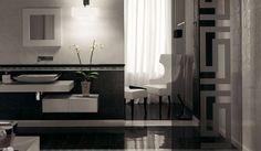 Abbinare pareti e pavimento - Pavimento nero e pareti chiare
