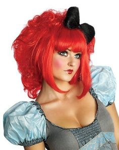 rubies costume cutie doll adult costume wig red one si - Red Wigs For Halloween