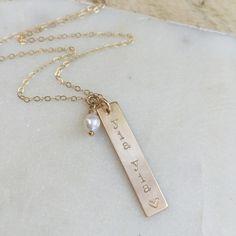 Grandma Gold Bar Necklace. Perfect gift! www.nellenetree.com