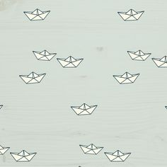 tiny cottons - paper boat print