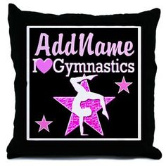 CHAMPION GYMNAST Throw Pillow Your awesome Gymnast will be inspired with beautiful personalized Gymnastics bedroom décor. http://www.cafepress.com/sportsstar/10114301 #Gymnastics #Gymnast #WomensGymnastics #Lovegymnastics #PersonalizedGymnast #Gymnastgift #Gymnasticsgifts