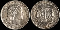 #Haiti 20 Cent, 1850. Check it out and more World Coins at meridiancoin.com, see what's selling on our eBay, or come by our store in #Torrance CA. #coin #money #collecting #numismatic #numismatist