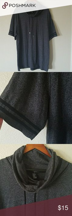 New Men's modern casual shirt size XL New with tags men's modern casual shirt in size XL by Forever 21. In black and gray color. Has tall neckline with drawstrings. Forever 21 Shirts