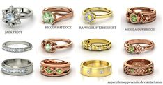 Omg! The hiccup one!!! Rise of the Brave Tangled Dragons Wedding Rings by supereilonwypevensie on deviantART