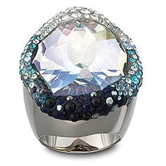 Hyacinth Blue Ring by Swarovski  ... I must see this ring in person. I don't know if I can pull it off, but it's just gorgeous!