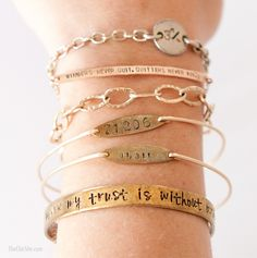 Stackable Dainty Gold Bracelets ~ and the story behind them