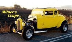 John Milner's Yellow 1932 Ford Deuce Coupe - American Graffiti.