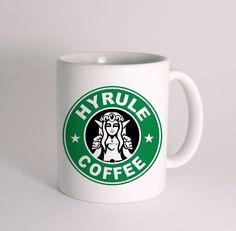 hyrule coffee the legend of zelda mug cup  mug white 11 oz two sides ceramic
