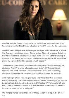 Tvd News - Nina Dobrev - Elena Gilbert