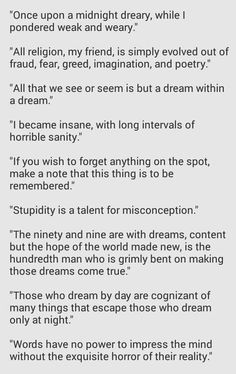 Some of Edgar Allen Poe's touching quotes.