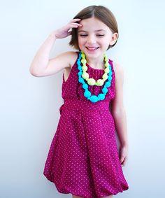 Sophie Catalou Purple Petunia Ritta Dress - Toddler & Girls by Sophie Catalou #zulily #zulilyfinds