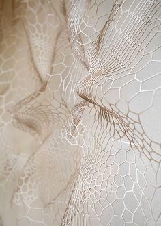 Paper sculpture called Memory of Skin I - Ann Sunwoo