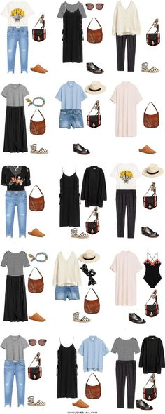 What to Pack for Greece Outfit Options 1-15 Packing Light List #packinglist #packinglight #travellight #travel #livelovesara #capsule #capsulewardrobe
