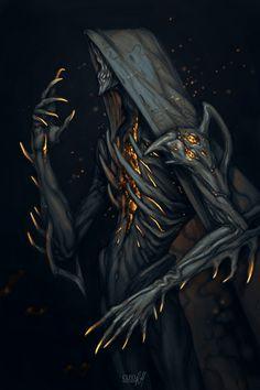 Monster Concept Art, Fantasy Monster, Monster Art, Fantasy Character Design, Character Design Inspiration, Character Art, Dark Creatures, Fantasy Creatures, Creature Concept Art