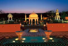 Set amidst landscaped gardens with pavilions and reflection pools, the #resort recreates the romance and grandeur of #Rajasthan.