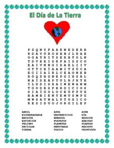 This exciting Word Search & Double Puzzle can teach vocabulary words to students using cognates and a hint word to let them know what the search is about. Have students compete for a homework pass in the older grades. This is a great activity to celebrate Earth day.