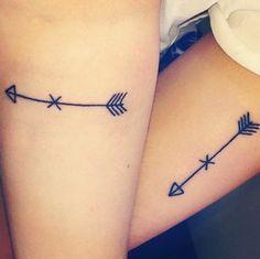 couple tattoos – couple arrow tattoo design