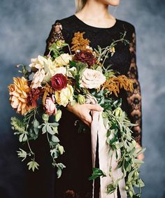 Bridal bouquet in beautiful spice colors for a fall wedding - fall wedding bouquet, spice tone wedding, fall bridal bouquet, Floral Wedding, Wedding Colors, Wedding Flowers, Bride Bouquets, Bridesmaid Bouquet, Fall Flowers, Pretty Flowers, Vintage Bridal Bouquet, Arte Floral