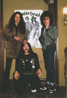 Eddie/Lemmy/Phil MOTORHEAD Metal Bands, Rock Bands, Eddie Clarke, Heavy Trash, Dark Pictures, Dark Pics, Live Rock, Band Memes, Alternative Music