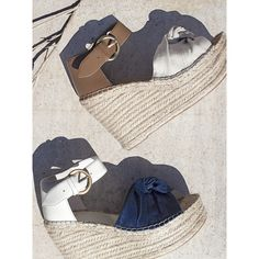 Beach or bar, these wedges do both [Shoe: Anty] Wedge Sandals, Ankle Strap, Espadrilles, Honey, Footwear, Wedges, Bar, Design, Style