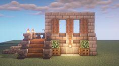 Minecraft idea - Mine Minecraft World Casa Medieval Minecraft, Minecraft Farm, Cute Minecraft Houses, Minecraft Plans, Amazing Minecraft, Minecraft Blueprints, Minecraft Creations, Minecraft Crafts, Minecraft Wall Designs