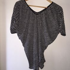 Express striped top Striped Vneck (front & back) top. Very comfortable. Only worn a handful of times. Express Tops Tees - Short Sleeve