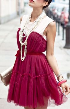 Street Style | Burgundy and Pearls