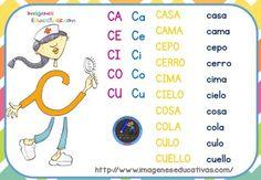 fichas-de-repaso-letrilandia-2 Grade 1, Preschool Activities, Education, Gabriel, Homeschooling, Tree Stump, Activities, Beginning Sounds, Teaching Letters