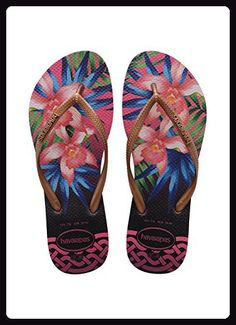 85d654a57 Havaianas Damen Flip Flops Slim Tropical Grösse 39 40 EU ( 37 38 Brazilian)  Rose Zehentrenner für Frauen - Sandalen für frauen ( Partner-Link)