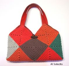 Bolso de ganchillo. Crochet bag.