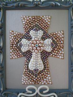 Decorative Pearl Cross