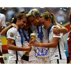 Abby Wambach Signed 2015 World Cup Celebration 8x10 Photo