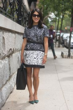 Pin for Later: Mit diesen Outfits kommt ihr im Büro nicht ins Schwitzen Bürotauglicher Sommer Street Style