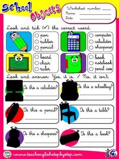 School Objects - Worksheet 6