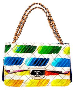 Chanel's classic handbag gets a painterly touch.