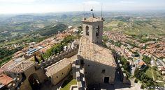 Mount Titano dominates San Marino's landscape