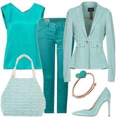 fd66c144c7 Il cielo ed il mare: outfit donna Chic per tutti i giorni | Bantoa