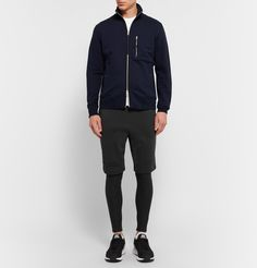 <a href='http://www.mrporter.com/mens/Designers/APC'>A.P.C.</a>'s collaboration with sporting brand Outdoor Voices is an easy marriage of both brands' aesthetics. Designed for a compression fit, these stretch-jersey running tights have a clean, close silhouette and are finished with a flexible elasticated waistband. Wear them under gym shorts on cold days.