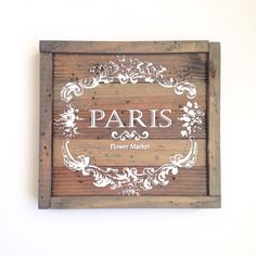 Vintage Farmhouse Paris Sign- Pallet Wood Sign by TheCreativePallet on Etsy