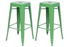 Green Metropolis Stool, Pair on OneKingsLane.com