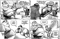 """""""Welcome to Angela Merkel's Fitness Centre!"""" 