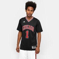 Camiseta Regata Adidas NBA Swingman Chicago Bulls - Preto+Vermelho a6506a9a0f7